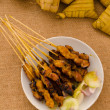 Delicious AsiCuisine Chicken Satay — Stock Photo #32787819