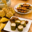 Malay hari raya foods lemang — Stock Photo