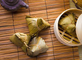 Chinese dumplings, zongzi usually taken during festival occasion — 图库照片
