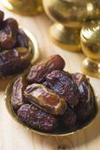 Dried date palm fruits or kurma — Stock Photo