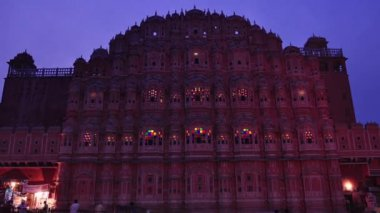 Hawa Mahal- Palace of Winds — Stock Video