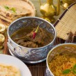 ������, ������: Mutton korma famous food with traditional indian background item