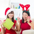 Asian friend lifestyle christmas photo — Stock Photo #34254567