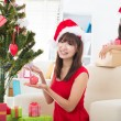 Singapore asian friend lifestyle christmas photo — Stock Photo
