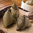 Stock Photo: Chinese dumplings, zongzi usually taken during festival occasion