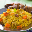 Arab rice, ramadan foods in middle east usually served with tand — Stock Photo