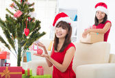Singapore asian friend lifestyle christmas photo — Φωτογραφία Αρχείου