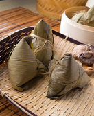 Chinese dumplings, zongzi usually taken during festival occasion — Zdjęcie stockowe