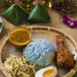 Nasi kerabu is a type of nasi ulam — Foto de Stock