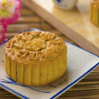 Mooncake for Chinese mid autumn festival foods — Stock Photo