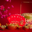 Stock Photo: Chinese new year festival decorations, ang pow or red packet and