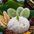 Stock Photo: Nasi lemak, a traditional malay curry paste rice dish served on