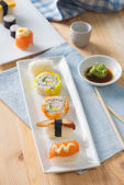 Sushi Assortment On a Dish, close up — Stock Photo