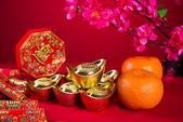 Chinese new year decorations,generci chinese character symbolize — Stock Photo