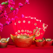 Stock Photo: Chinese new year decorations,generic chinese character symbolize