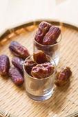 Dried date palm fruits or kurma, ramadan food — Stock Photo