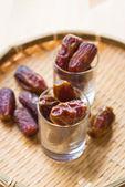 Dried date palm fruits or kurma, ramadan food — Stock Photo