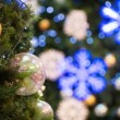 Stock Photo: Christmas tree decorations and background