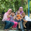 Malay family having fun in the park ,malaysian people — Stock Photo #38375131