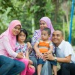 Malay family having fun in the park ,malaysian people — Stock Photo #38375135