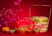 çin yeni yıl süslemeleri, generci çin karakteri sembolize — Stok fotoğraf