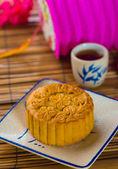 Mooncake e tè — Foto Stock