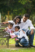 Famille indienne — Photo