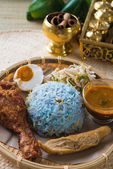 Nasi kerabu — Stock Photo