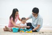 Asian family — Stock Photo