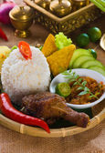 Fried chicken rice — Stock Photo