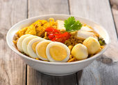 Curry laksa noodle — Stock Photo