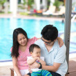 Holiday on a pool — Stock Photo