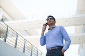 Business hane med telefonen — Stockfoto