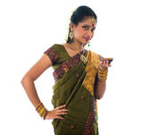 Indian female in traditional clothes — Stock Photo