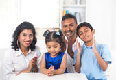Happy indian family — Stock Photo