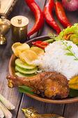Nasi ayam penye — Stock Photo