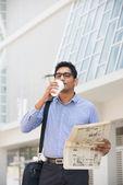 Asian indian business man — Stock Photo