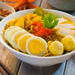 Spicy curry instant noodles — Stock Photo #45904201