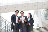 Asian business team meeting — Stock Photo