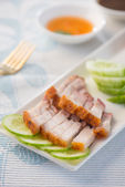 Crispy roasted pork — Stock Photo