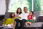 Happy indian family enjoying quality time — Stock Photo