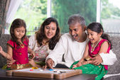 Indian family enjoying quality time — Stock Photo