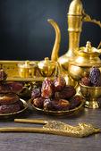 Ramadan plam dates — Stock Photo