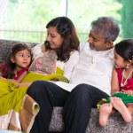Happy indian family enjoying quality time — Stock Photo