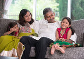 Happy indian family enjoying quality time — ストック写真