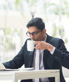 Indian business male at cafe — Stock Photo