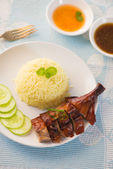 Bbq duck rice — Stock Photo