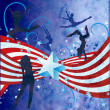 Independence day grunge textured illustration with stripes, star — Stock Photo #10358319