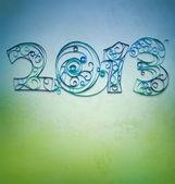Papier w stylu retro z quilling 2013 roku numery — Zdjęcie stockowe