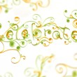 Royalty-Free Stock Photo: Celebrate text  hand made quilling